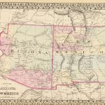1880 County map of Arizona and New Mexico