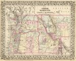 1880 Map of Oregon, Washington, Idaho, and part of Montana