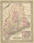 1880 Map of Maine