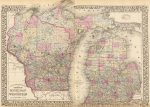 1880 Map of Michigan