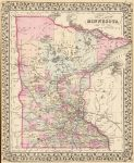 1880 County Map of Minnesota